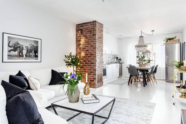 красивый скандинавский интерьер квартиры фото