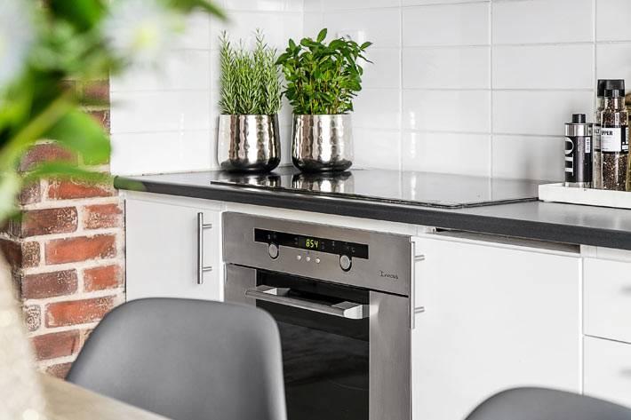 мини-огород на скандинавской кухне фото