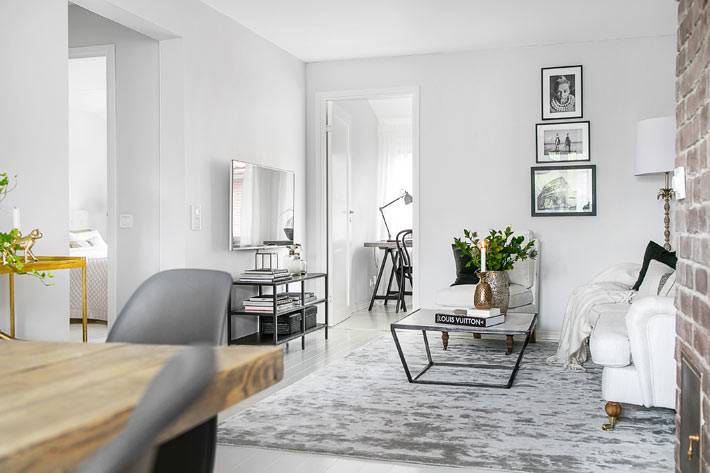 минимализм в белом интерьере квартиры фото