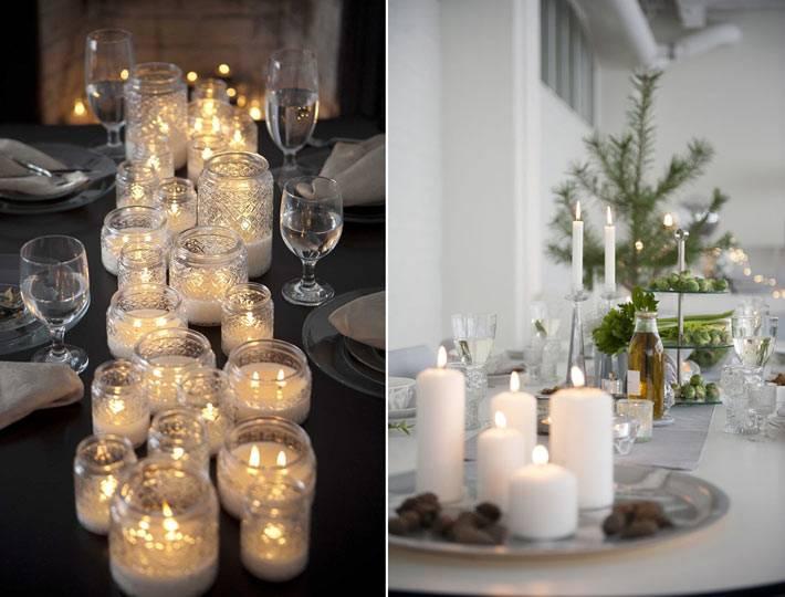 красивые композиции со свечами в интерьере