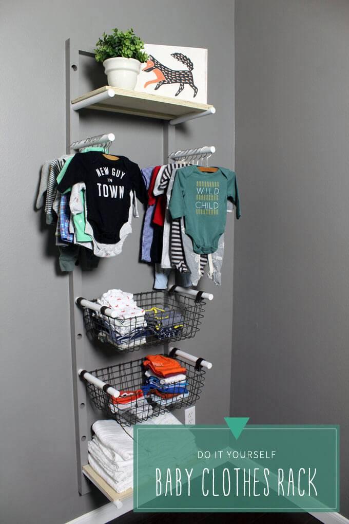 как хранить детскую одежду в интерьере детской комнаты