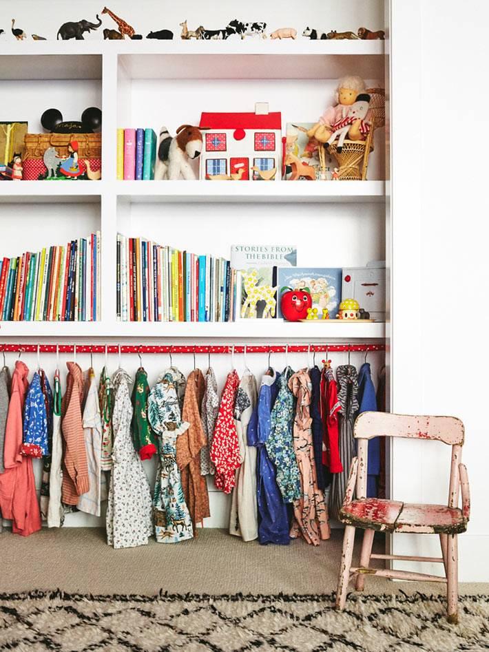 где хранить детскую одежду фото