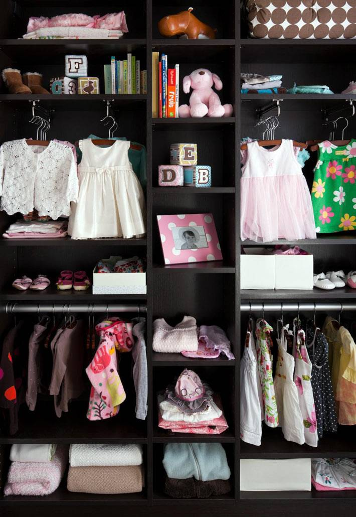 устройство шкафа для хранения детской одежды