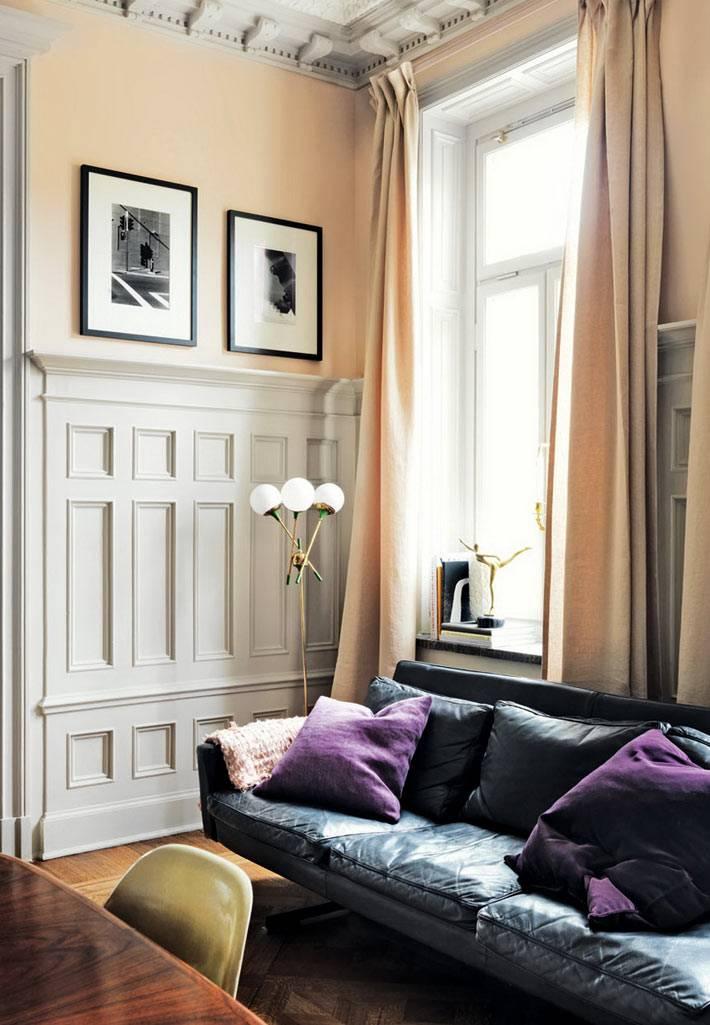 красивый дизайн интерьера квартиры в стогкольме