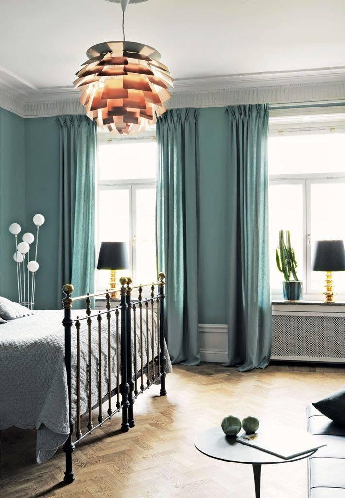 красивый дизайн спальни в скандинавской квартире