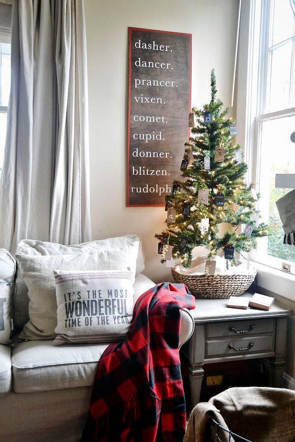 маленькие новогодние елочки в интерьере фото