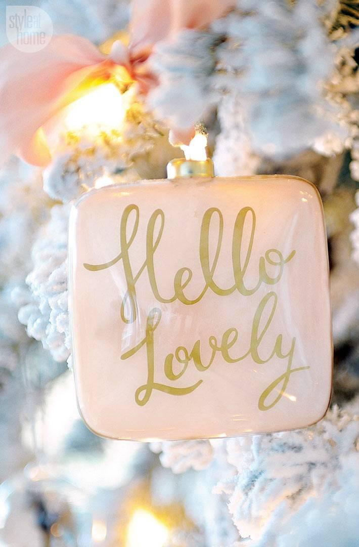 новогоднее украшение пастельного цвета фото