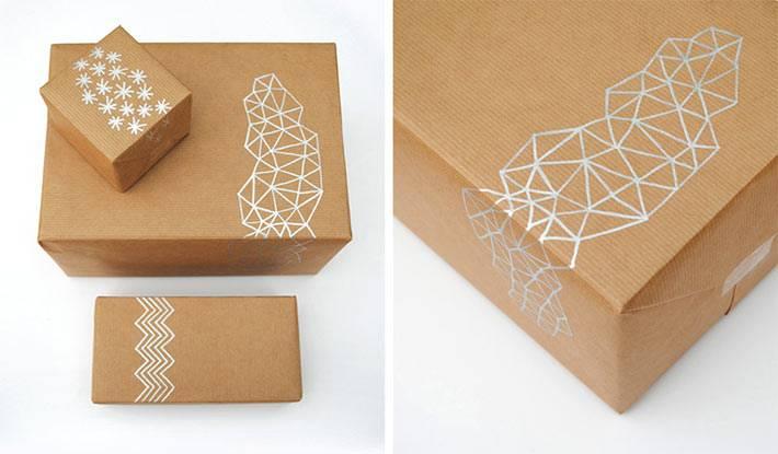 как самостоятельно украсить упаковку для новогоднего подарка