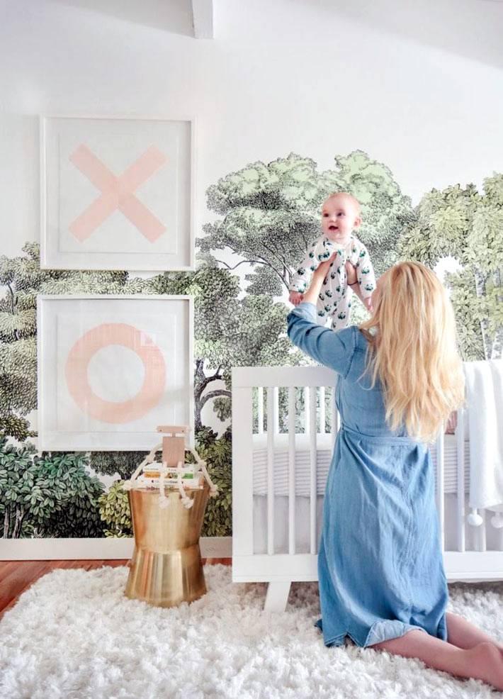 Красивый дизайн интерьера детской комнаты для девочки