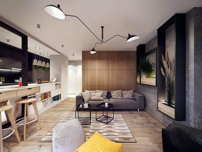 перегородки в дизайне интерьера дома в Польше
