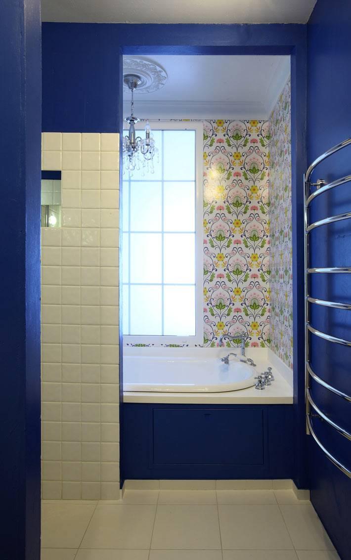 плитка с растительным узором в ванной комнате фото