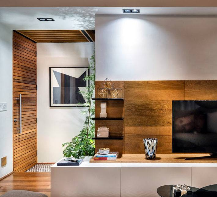 деревянные элементы в дизайне квартиры фото