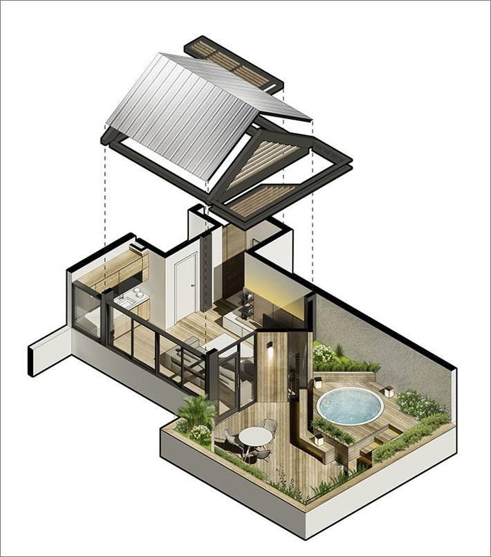 план-схема квартиры с выходом на террасу