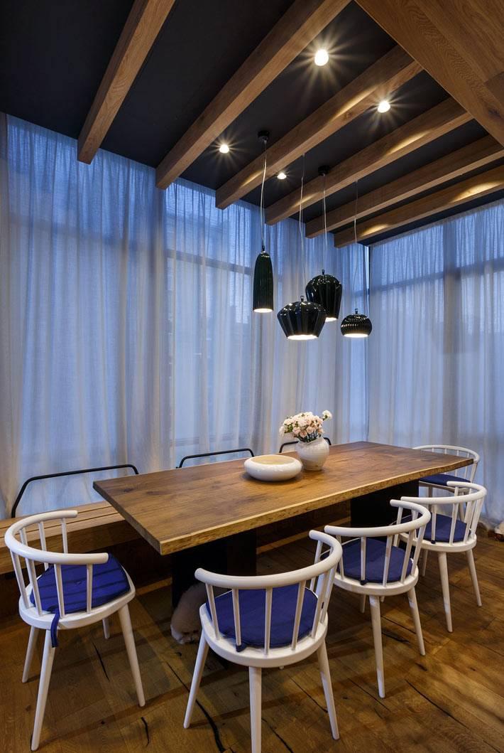 Красиво оформленая столовая зона в квартире фото