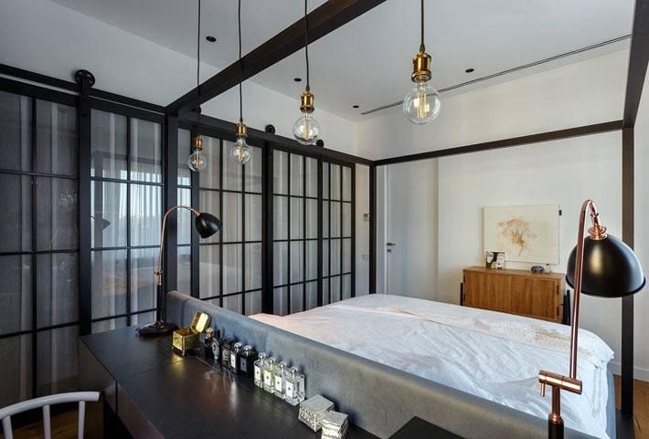 Креативные светильники в спальне для творческого человека фото