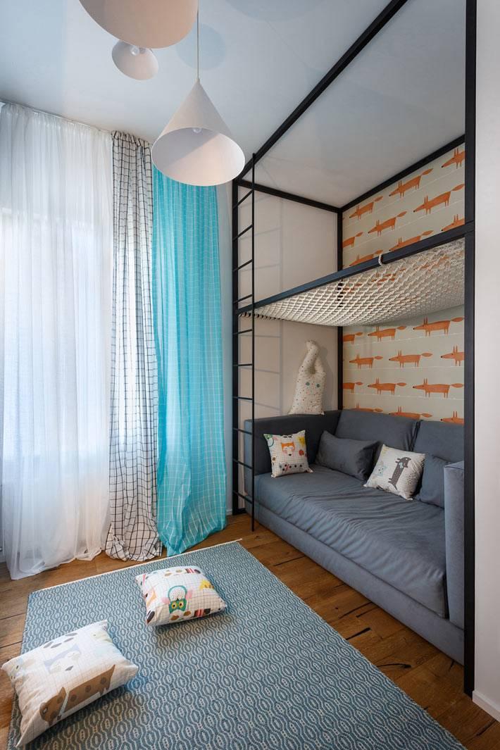 Детская комната с зоной для активных игр фото