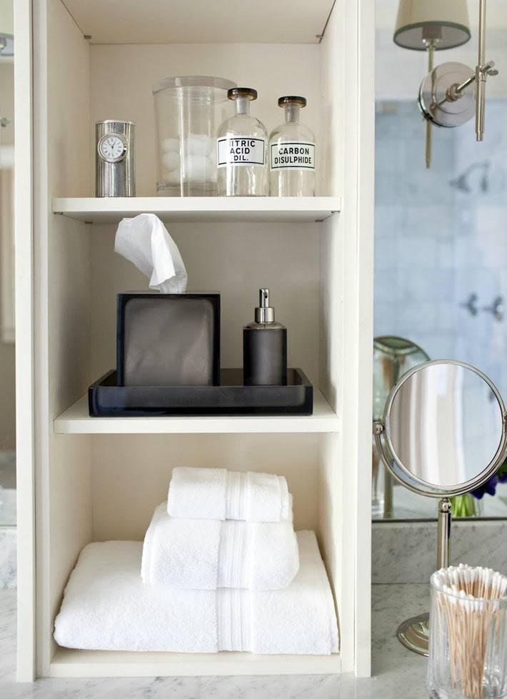 Идеи для хранения аксессуаров для ванной комнаты фото