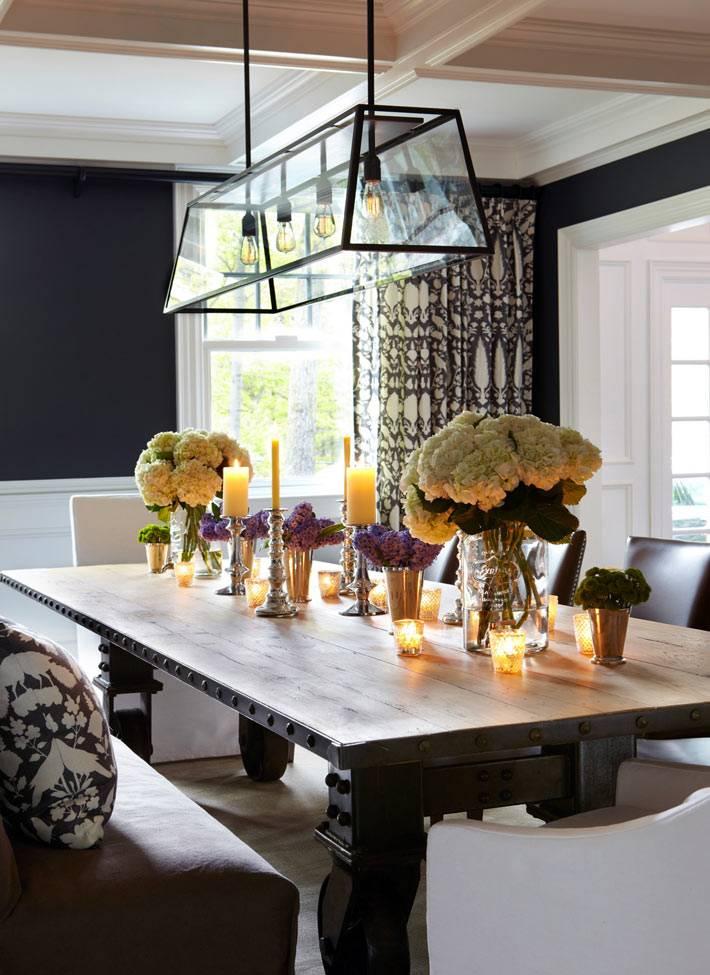 Креативная подвесная люстра с 4 лампочками фото