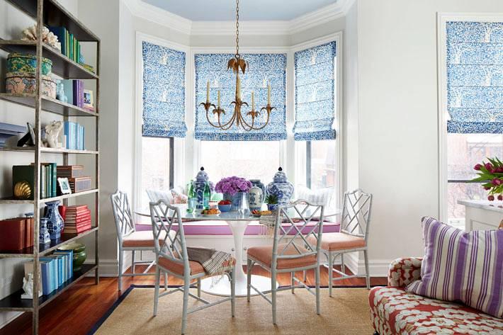 Интерьер квартиры с эркером в Чикаго фото