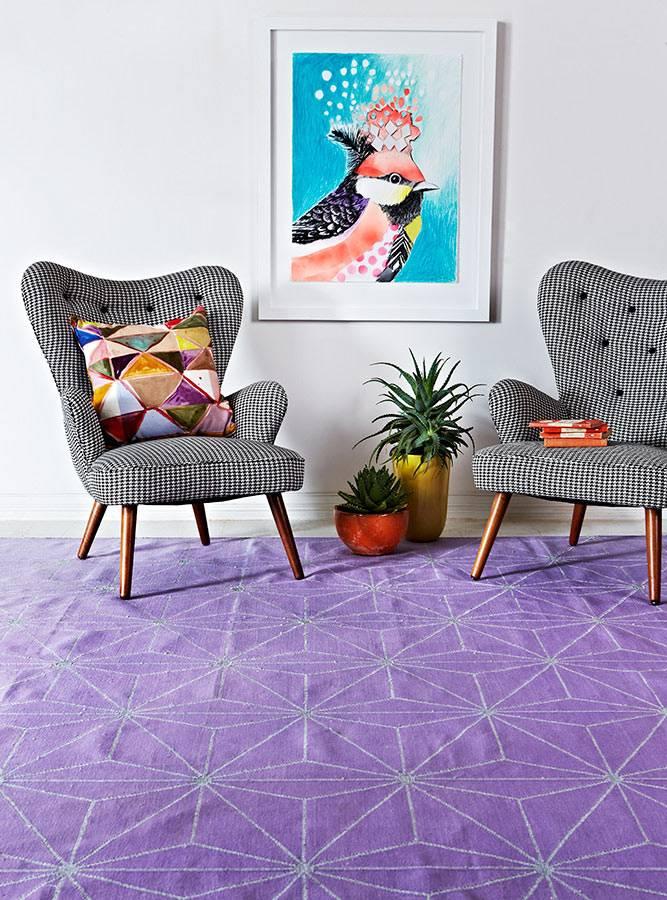 Фиолетовый ковер Fenton&Fenton в интерьере фото
