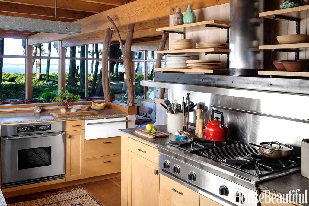 натуральные материалы в оформлении интерьера кухни фото