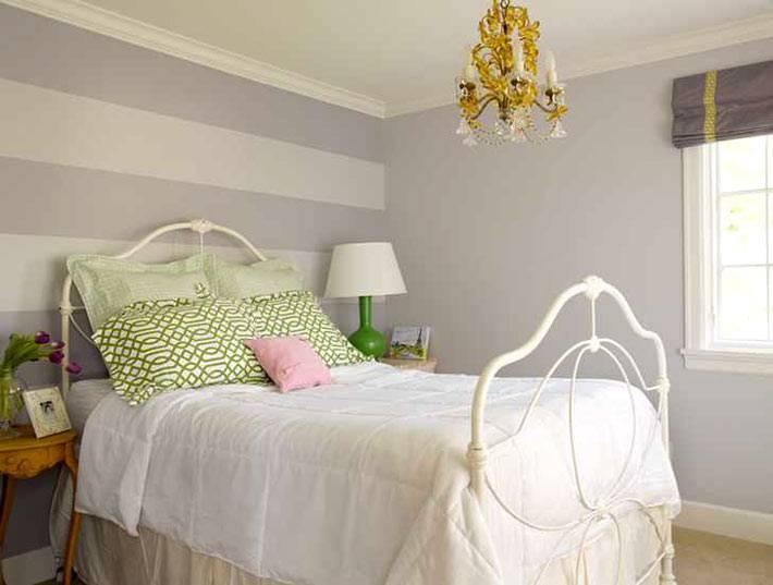 дизайн спальни Graciela Rutkowski в нежных цветах