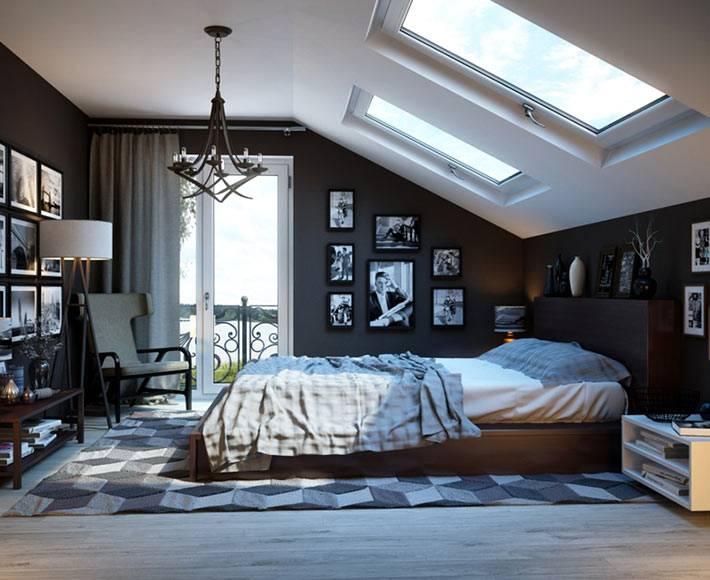 Спальня для холостяка на мансардном этаже фото