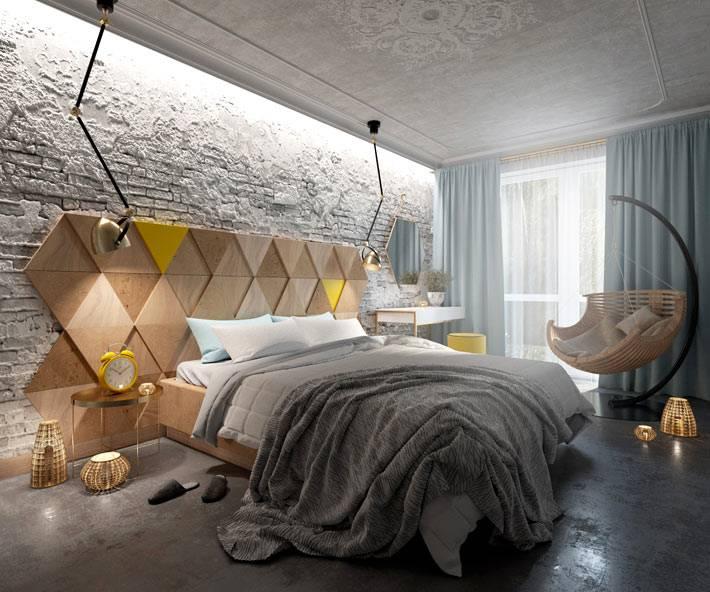 современные тенденции в дизайне спален с кирпичной стеной