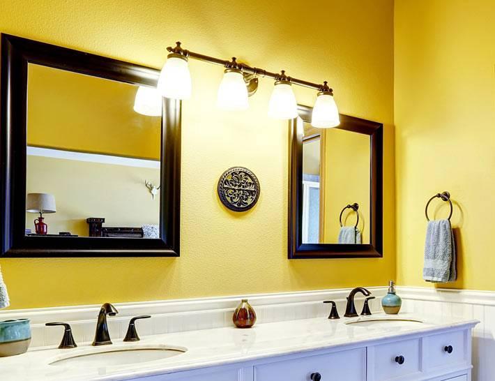 Ванная комната, оборудованая для двоих человек фото