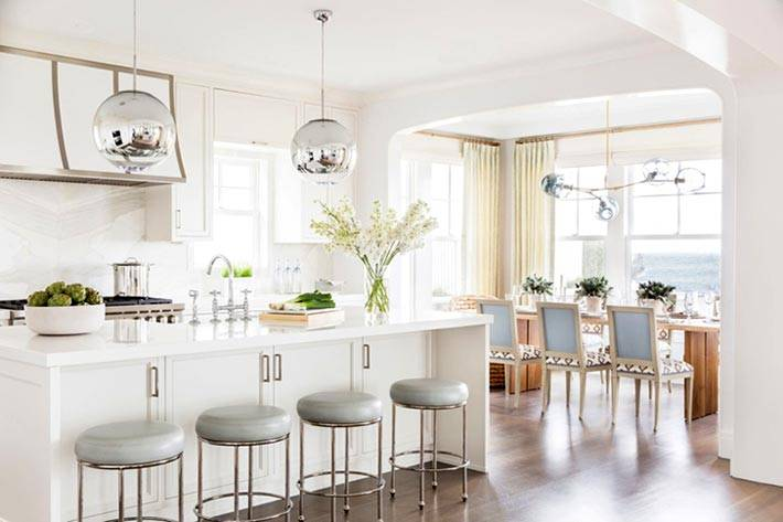 как объединить кухню со столовой зоной фото