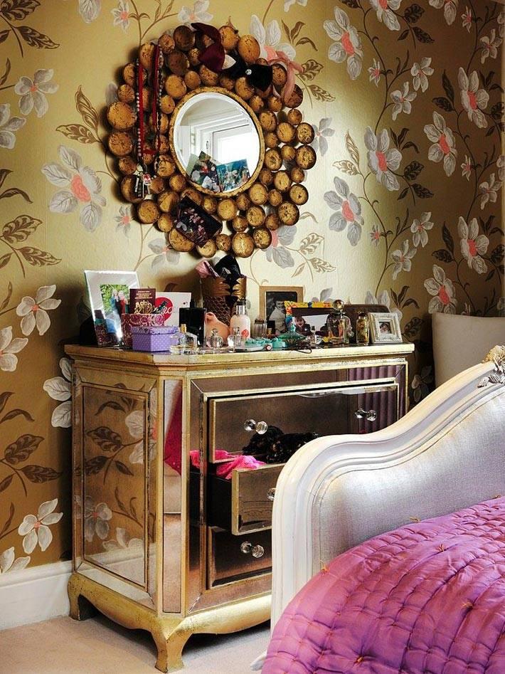 зеркальная мебель в винтажном стиле фото