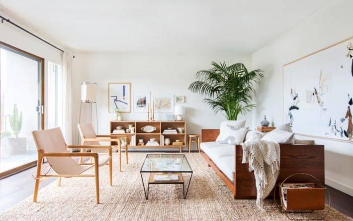 натуральные материалы в дизайне мебели для интерьера