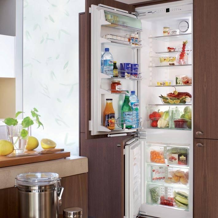 встроенный холодильник размеры фасадов
