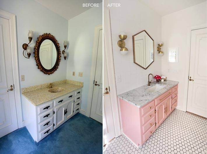 переделка ванной комнаты для девушки фото
