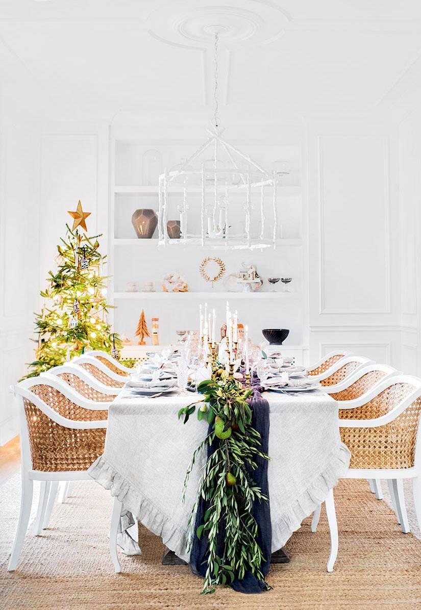 новогодняя сервировка стола от блоггера Моники Гиббс