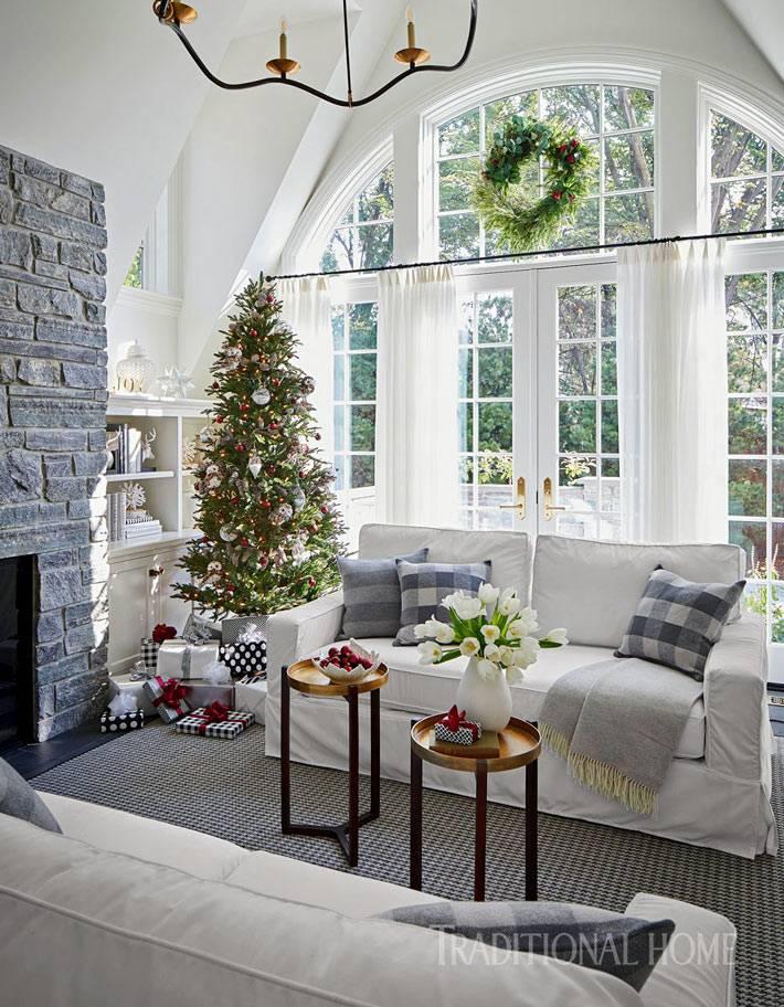 как украсить большой дом к новогодним праздникам