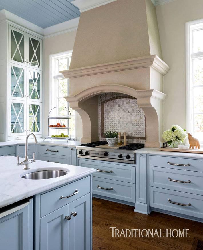 легкий прованс в дизайне интерьера кухни фото