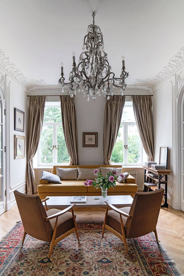 красивый интерьер квартиры с французским шармом