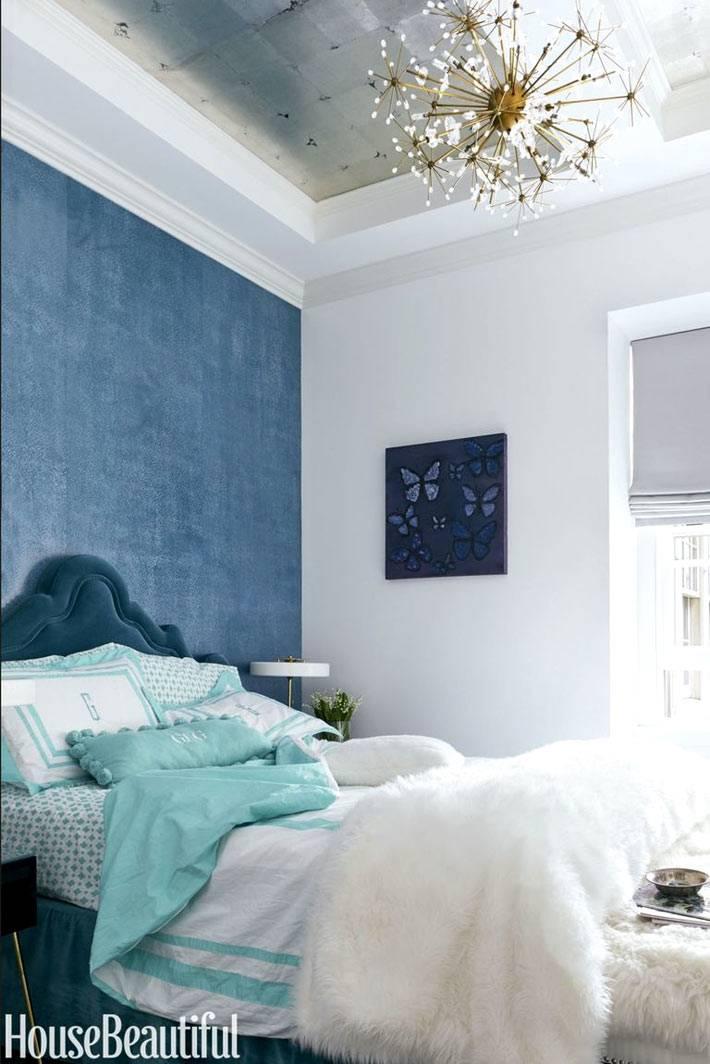 люстра-одуванчик в интерьере спальни фото