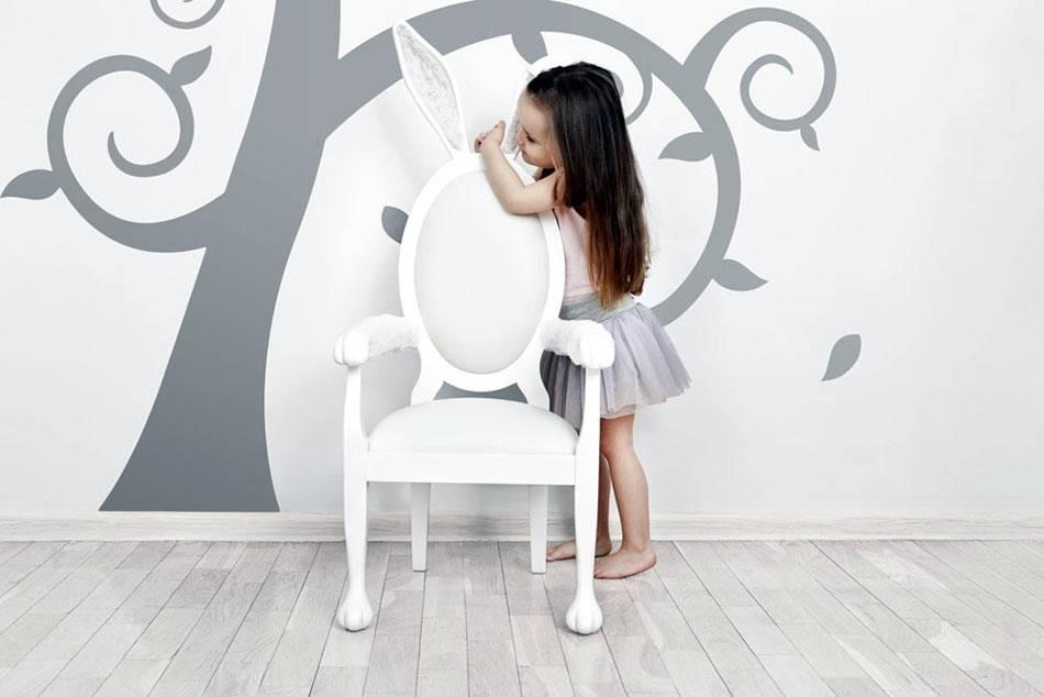детский стульчик Банни с ушами для маленькой девочки фото
