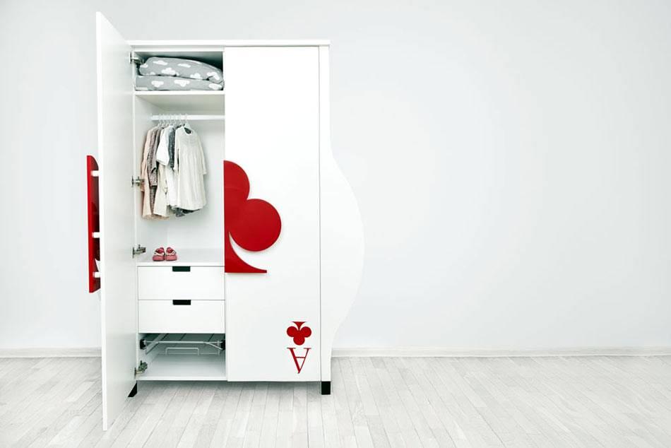 как сделать интересный шкаф для детской комнаты фото