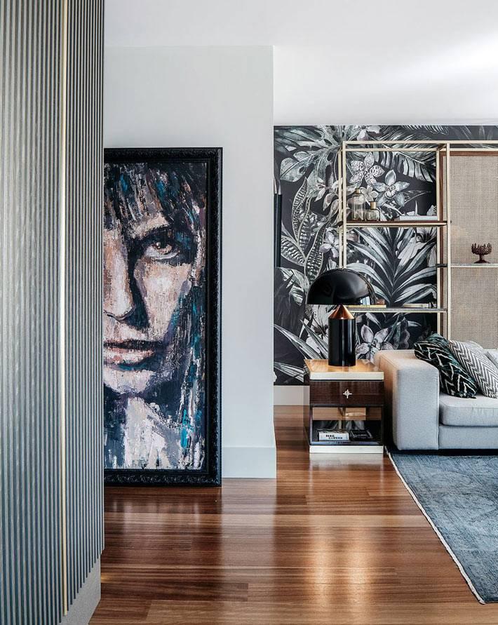 темный паркетный деревянный пол в квартире фото