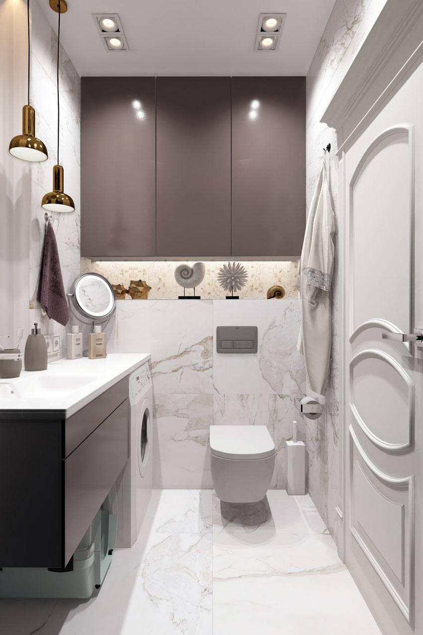 коричневые тумбочки в белом помещении ванной фото