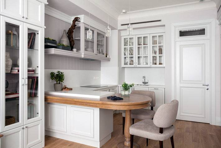 Зонирование в совмещенной гостиной и кухни фото