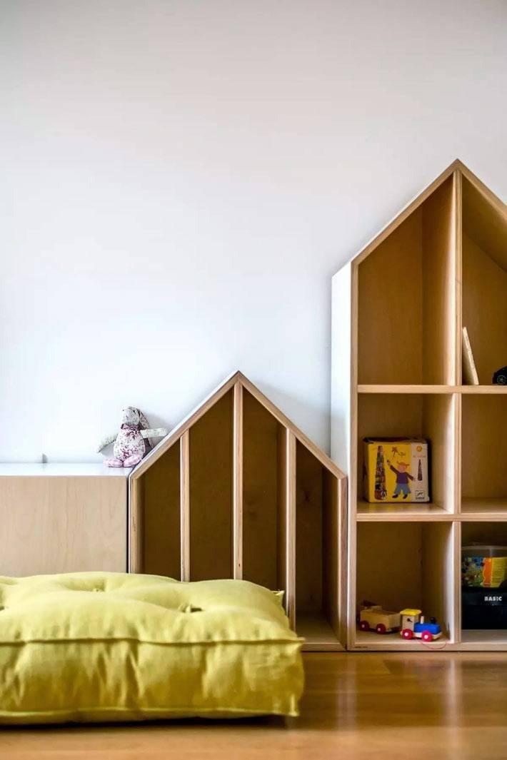 деревянные шкафы с открытыми полками для игрушек