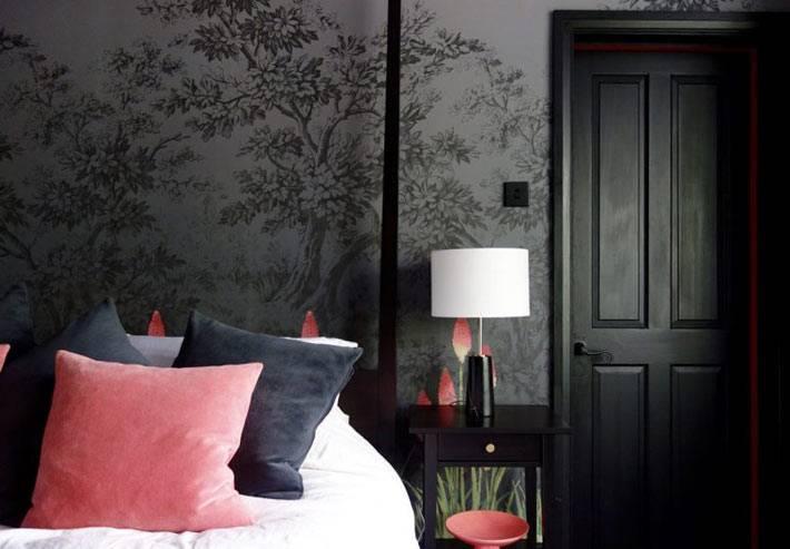 спальня для тех, кто не боится черного цвета