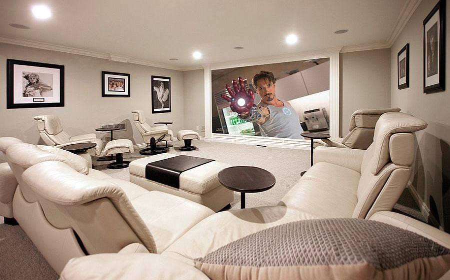 как оборудовать комнату для кинотеатра у себя дома фото