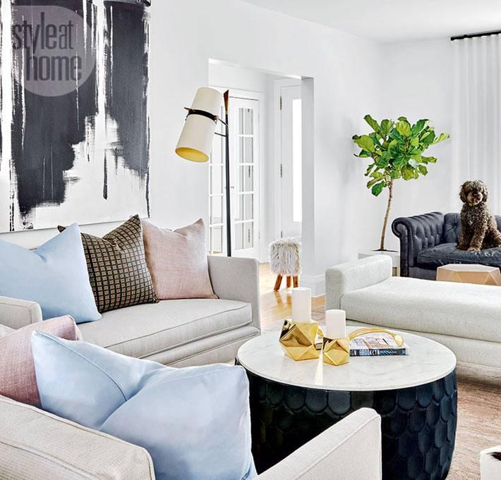 как оформить современную гостиную комнату фото