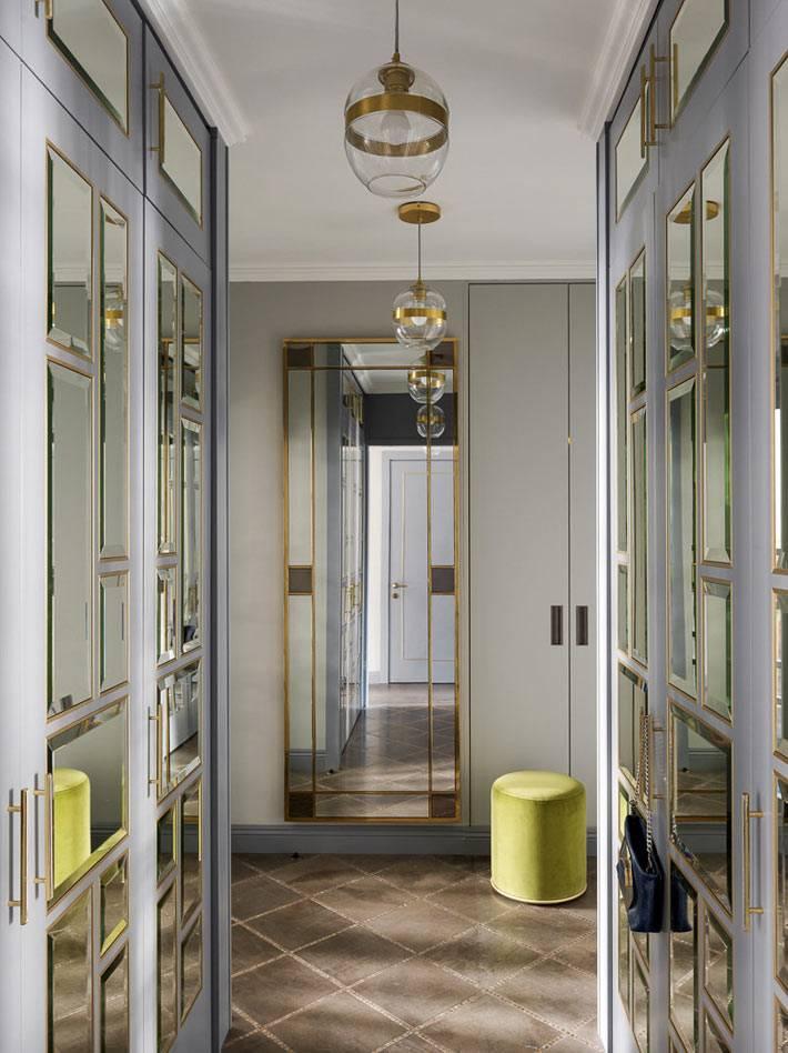 гардеробные зеркальные шкафы в прихожей квартиры