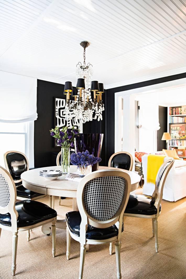 использование черного цвета в дизайне интерьера